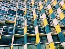 Η πρόσοψη ενός σύγχρονου κτηρίου στο viña del χαλά, Χιλή Στοκ εικόνα με δικαίωμα ελεύθερης χρήσης