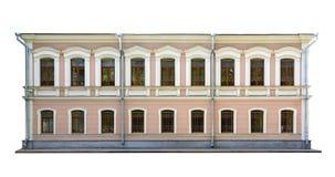 Η πρόσοψη του κτηρίου στο κλασσικό ύφος Στοκ Φωτογραφίες