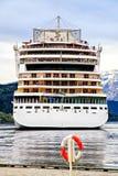Η πρόσοψη του σκάφους της γραμμής κρουαζιέρας, η Βόρεια Θάλασσα Στοκ Φωτογραφίες