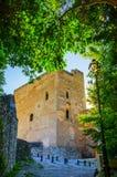 Η πρόσοψη Alhambra του παλατιού με την πράσινη αλέα, Γρανάδα, Ισπανία Στοκ φωτογραφίες με δικαίωμα ελεύθερης χρήσης