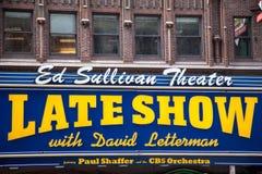 Η πρόσφατη επίδειξη με το Δαβίδ Lettermann στοκ φωτογραφία