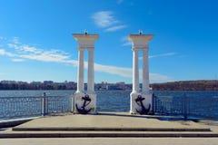 Η πρόσδεση πόλεων στη λίμνη αγκυλών Στοκ Εικόνα