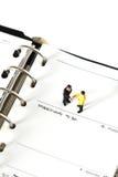 Η πρότυπη επιχείρηση λογαριάζει το ημερολόγιο Β Στοκ Φωτογραφία