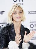 Η πρότυπη Anja Rubik στο Netia από το φεστιβάλ ταινιών καμερών, Κρακοβία, Πολωνία Στοκ εικόνες με δικαίωμα ελεύθερης χρήσης
