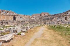 Η πρώην ελληνική πόλη Milet είναι αυτήν την περίοδο ένα από το περισσότερο visi Στοκ Φωτογραφίες