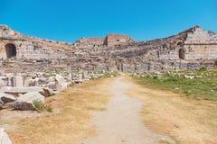 Η πρώην ελληνική πόλη Milet είναι αυτήν την περίοδο ένα από το περισσότερο visi Στοκ Εικόνες