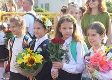η πρώτη ημέρα του σχολείου Στοκ φωτογραφία με δικαίωμα ελεύθερης χρήσης