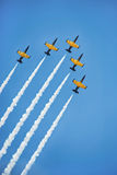 Η πτήση ομάδων αέρα παρουσιάζει Στοκ Εικόνες