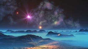 Η πτώση του μετεωρίτη (UFO) ελεύθερη απεικόνιση δικαιώματος