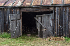 Η πτώση του χωριού σε μια κρίση Στοκ Εικόνα