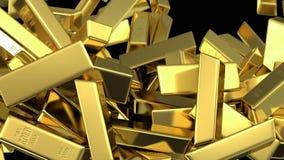 Η πτώση χρυσών των φραγμών γεμίζει την οθόνη ελεύθερη απεικόνιση δικαιώματος