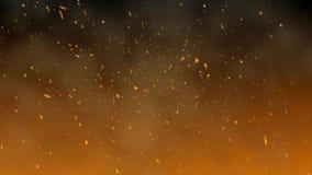 Η πυράκτωση από την πυρκαγιά απόθεμα βίντεο