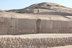 Η πυραμίδα σε Cahuachi, Περού στοκ εικόνα με δικαίωμα ελεύθερης χρήσης