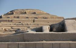 Η πυραμίδα σε Cahuachi, Περού στοκ εικόνες