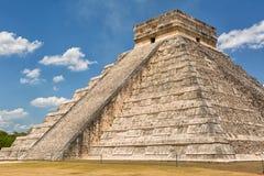 Η πυραμίδα Kukulcan σε Chichen Itza Μεξικό Στοκ φωτογραφία με δικαίωμα ελεύθερης χρήσης