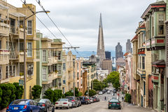 Η πυραμίδα Transamerica από την πόλη της Κίνας στο Σαν Φρανσίσκο Στοκ εικόνες με δικαίωμα ελεύθερης χρήσης