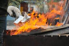 η πυρκαγιά ανάβει Στοκ Φωτογραφία