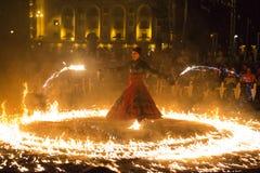 Η πυρκαγιά εμφανίζει Στοκ εικόνα με δικαίωμα ελεύθερης χρήσης