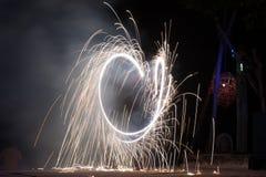 Η πυρκαγιά εμφανίζει Στοκ φωτογραφία με δικαίωμα ελεύθερης χρήσης