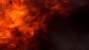 Η πυρκαγιά καίει τη νύχτα απόθεμα βίντεο