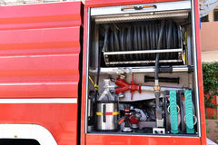 η πυρκαγιά μηχανών firetruck παλαιά εμφανίζει Στοκ Εικόνα