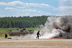 Η πυρκαγιά πάλης Στοκ Φωτογραφία