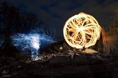 Η πυρκαγιά παρουσιάζει στη βιομηχανική θέση Στοκ φωτογραφίες με δικαίωμα ελεύθερης χρήσης