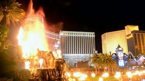 Η πυρκαγιά παρουσιάζει στο Las Vegas Strip, Λας Βέγκας, Νεβάδα, απόθεμα βίντεο