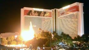 Η πυρκαγιά παρουσιάζει στο Las Vegas Strip στο Λας Βέγκας, Νεβάδα, απόθεμα βίντεο