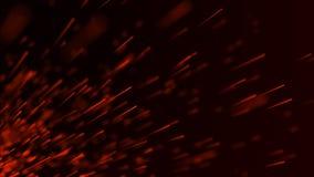 Η πυρκαγιά προκαλεί το υπόβαθρο E Πετώντας σπινθήρες πυρκαγιάς Θολωμένο φωτεινό φως r διανυσματική απεικόνιση