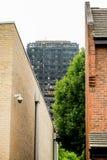 Η πυρκαγιά πύργων Grenfell Στοκ Φωτογραφία