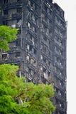 Η πυρκαγιά πύργων Grenfell Στοκ Φωτογραφίες