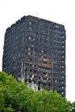 Η πυρκαγιά πύργων Grenfell Στοκ Εικόνα