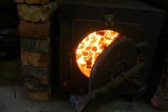 Η πυρκαγιά στο φούρνο Στοκ Εικόνα