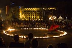 Η πυρκαγιά Terre et Ciel Entre εμφανίζει Στοκ Φωτογραφίες