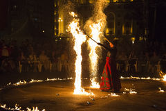 Η πυρκαγιά Terre et Ciel Entre εμφανίζει Στοκ Εικόνα