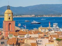 Η πόλη Άγιος-Tropez, Γαλλία στοκ φωτογραφία με δικαίωμα ελεύθερης χρήσης