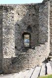 η πόλη Ιταλία καταστρέφει το ρολόι τοίχων πύργων susa Στοκ Φωτογραφίες