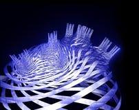 η πόλη καλύπτει dreamlike fractal διανυσματική απεικόνιση