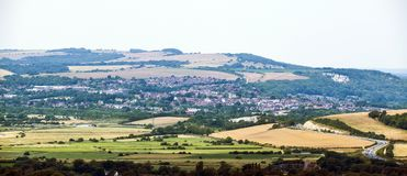 Η πόλη κομητειών Lewes στο ανατολικό Σάσσεξ, Αγγλία στοκ φωτογραφία