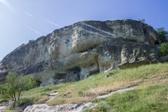 Η πόλη σπηλιών του chufut-Kale, Κριμαία, περιοχή Bakhchsarai στοκ φωτογραφίες