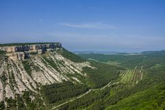 Η πόλη σπηλιών του chufut-Kale, Κριμαία, περιοχή Bakhchsarai στοκ φωτογραφία