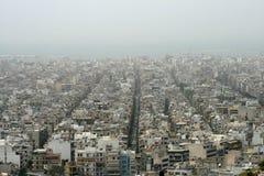 η πόλη της Αθήνας καλύπτει &ta Στοκ εικόνα με δικαίωμα ελεύθερης χρήσης