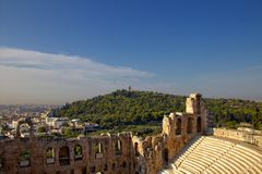 Η πόλη της Αθήνας Στοκ εικόνα με δικαίωμα ελεύθερης χρήσης