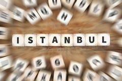 Η πόλη της Ιστανμπούλ Τουρκία χωρίζει σε τετράγωνα την επιχειρησιακή έννοια Στοκ φωτογραφία με δικαίωμα ελεύθερης χρήσης