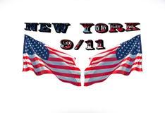Η πόλη της Νέας Υόρκης, ημέρα πατριωτών, δεν ξεχνά ποτέ, 11 Σεπτεμβρίου, το 2001 Στοκ Εικόνα