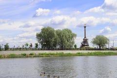Η πόλη της Στέλλα Millennium Yaroslavl στον ποταμό του Βόλγα στοκ φωτογραφία