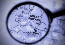 Η πόλη του Λονδίνου χαρακτήρισε στο χάρτη στοκ φωτογραφία με δικαίωμα ελεύθερης χρήσης