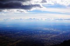 Η πόλη του Νέου Μεξικό του Αλμπικέρκη από το Sandia mountians στοκ φωτογραφία με δικαίωμα ελεύθερης χρήσης