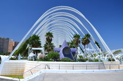 Η πόλη των τεχνών και των επιστημών στη Βαλέντσια, Ισπανία Στοκ εικόνα με δικαίωμα ελεύθερης χρήσης